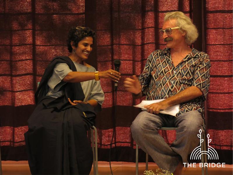 Photographer:Cassandra | Pryia Sundaravalli and Marco Feira interacting during the panel on Creative Progress day
