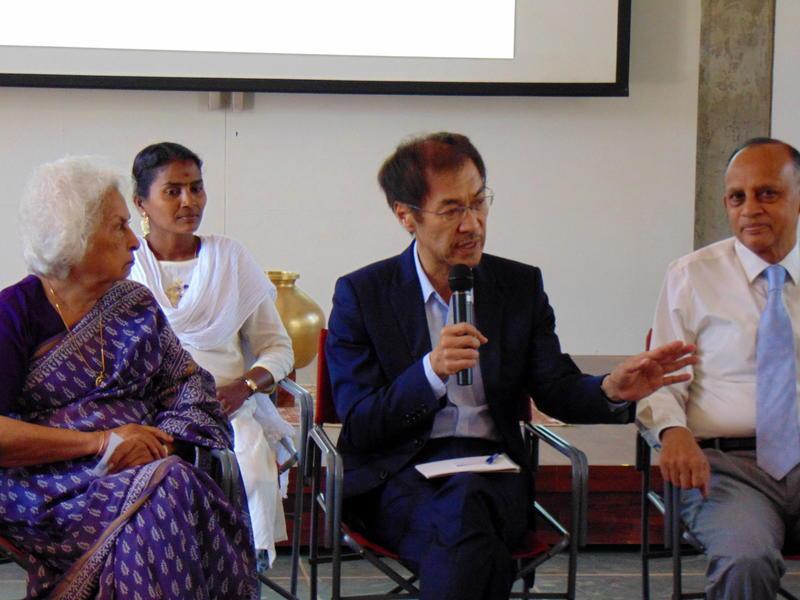 Photographer:Zoya   Aster Patel, Vani, and Mr. Shiguru Aoyagi