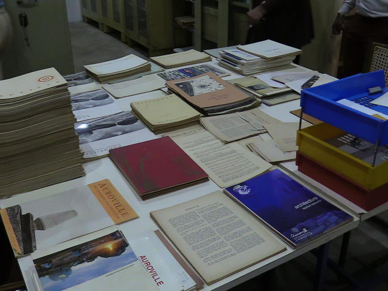 Photographer:S. Praneeth Simon | Some of the archive material plaves for display.