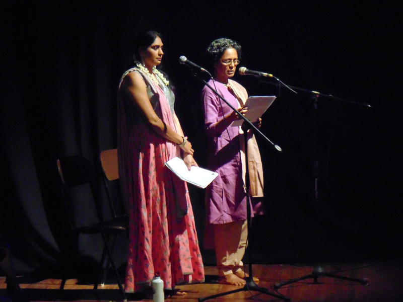 Photographer:Maya | Vindohini and Joy explaining the story in Tamil and English