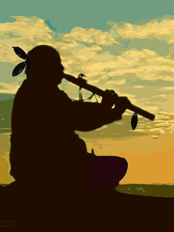 Photographer:web | playing flute at the sunset
