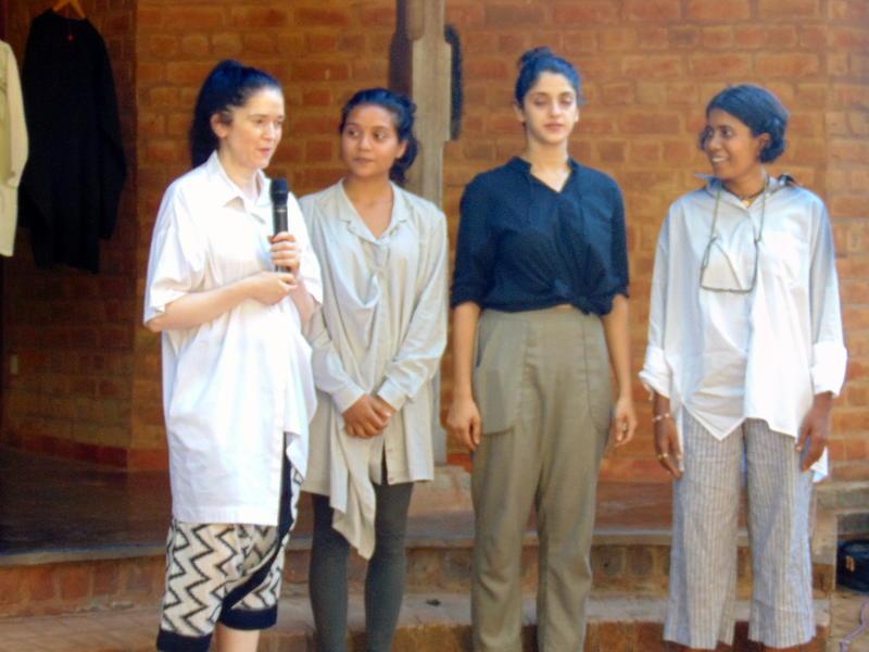 Photographer:Lina | Elena, Conscious Fashion Hub students, and Uma on Shirting