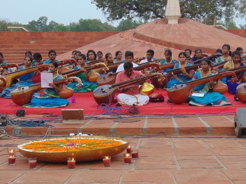Photographer:Vida | 50 students from Aurohamsadhvani Art Centre, Yatra and Ponycherry