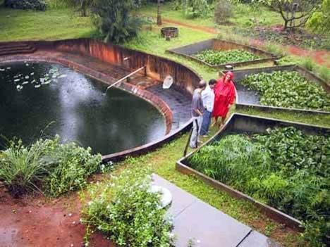 Photographer:web   waste water treatment in Auroville