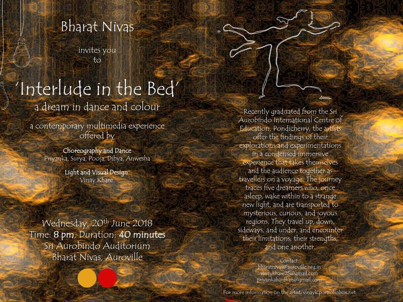 Photographer:web | Interlude in the Bed on Wednesday 20th at 8pm at Bharat Nivas
