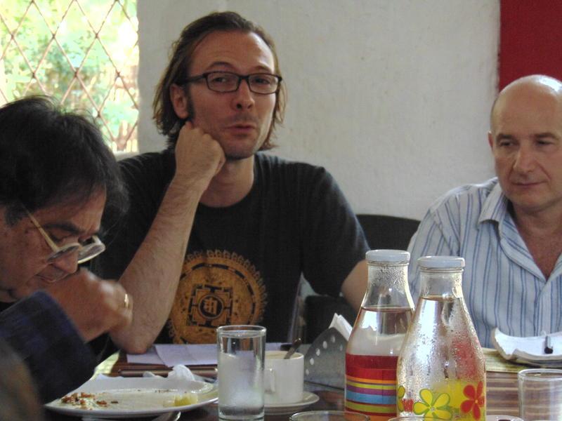 Photographer:Gino | Amando (left) Edo (center), Gino from AurovilleRadioTV (right)