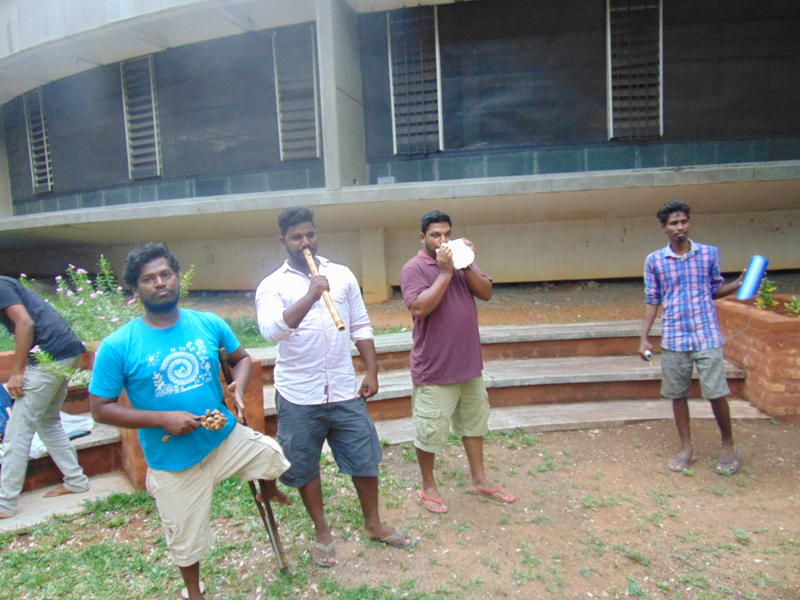 Photographer:Gino | Students from Svaram playing suggestive music for the ceremony