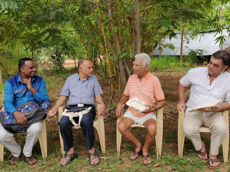 Photographer:Akshay | From left: Mr Balu, Mr Mohan Verghese Chunkath, Pashi, Luigi