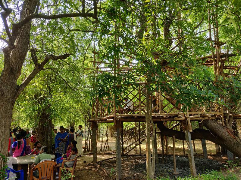 Photographer:Avdhi | Showcasing the strong building ability of bamboo with a treehouse