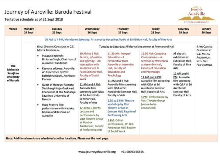 Photographer:Auroville Outreach Media   A brief look at the programme for the festivities