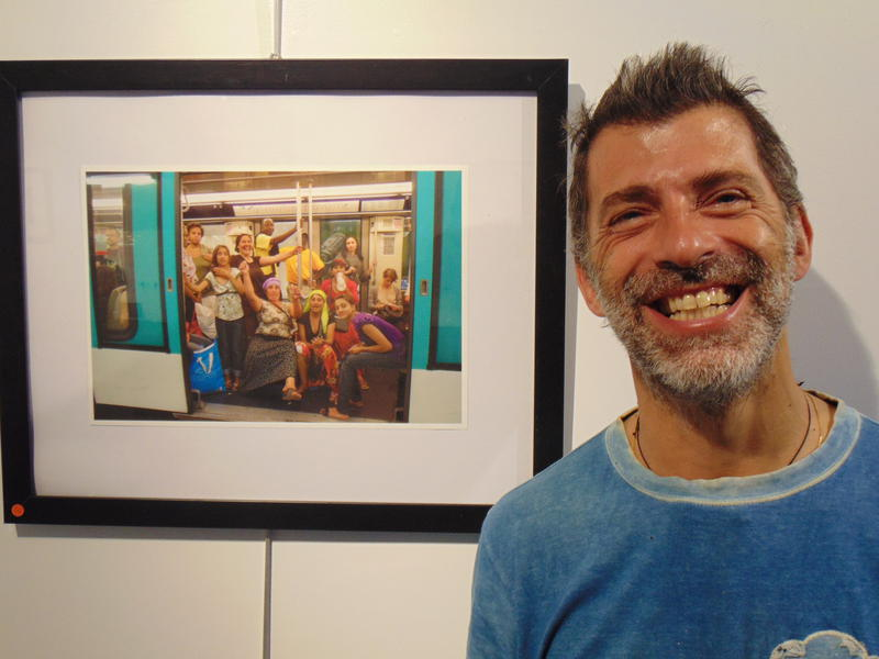 Photographer:Gino | Photography Artist Eric Chacra next to one of his photos