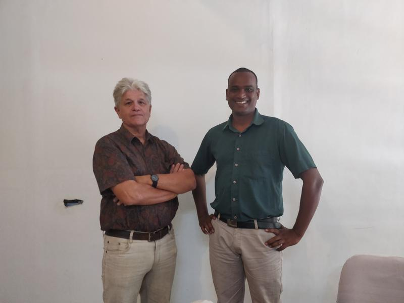Photographer:Avdhi | Carel(L) and Ranjith(R) from the Auroville Working Committee