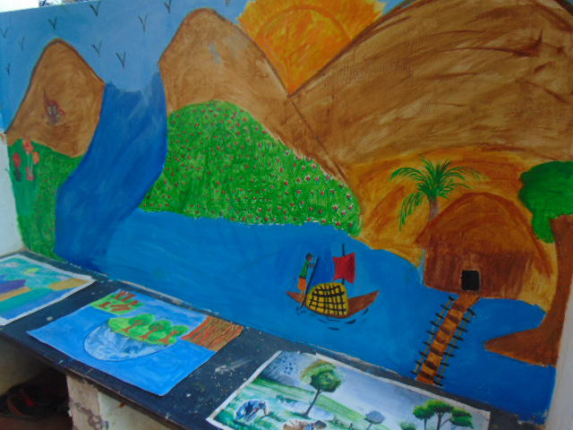 Photographer:Gino   Paintings by young students of Yatra