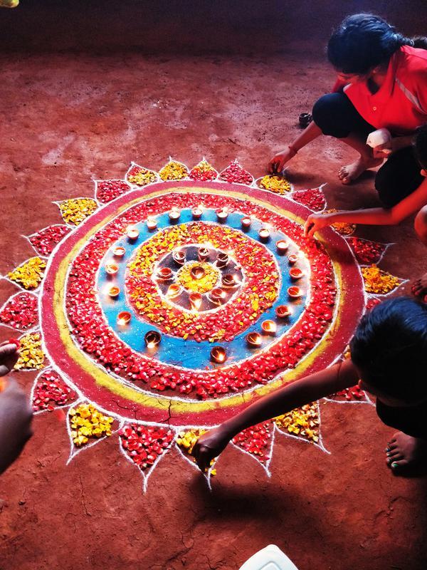 Photographer:Nelson | Floral Arrangement at the Kalari