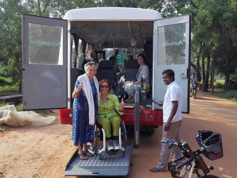 Photographer:Accessible Auroville Web | Susmita with guest & SivaKumar