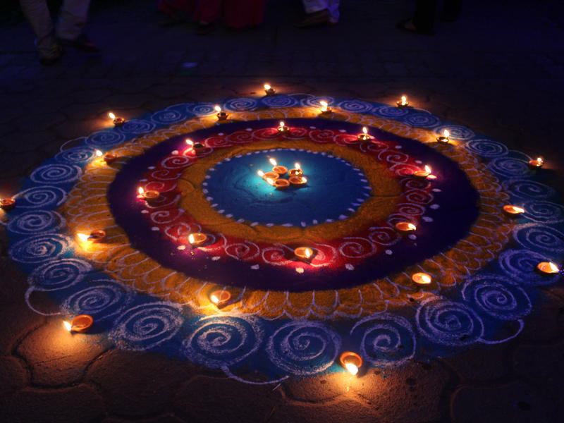 Photographer:Venkatesh and Team   Diwali Rangoli