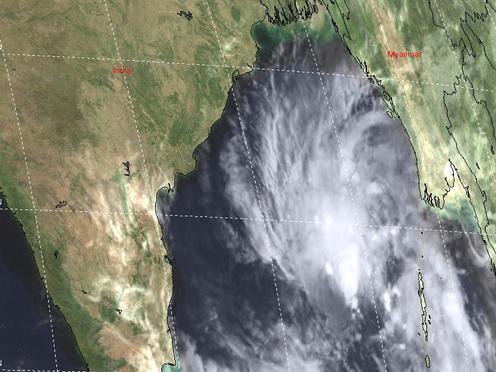 Photographer:web | satellite image of cyclone Gaja