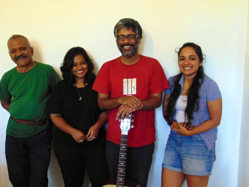 Photographer:Zarin   announcing By2Blues Aravind, Rebecca, Ananth, Ashiqa