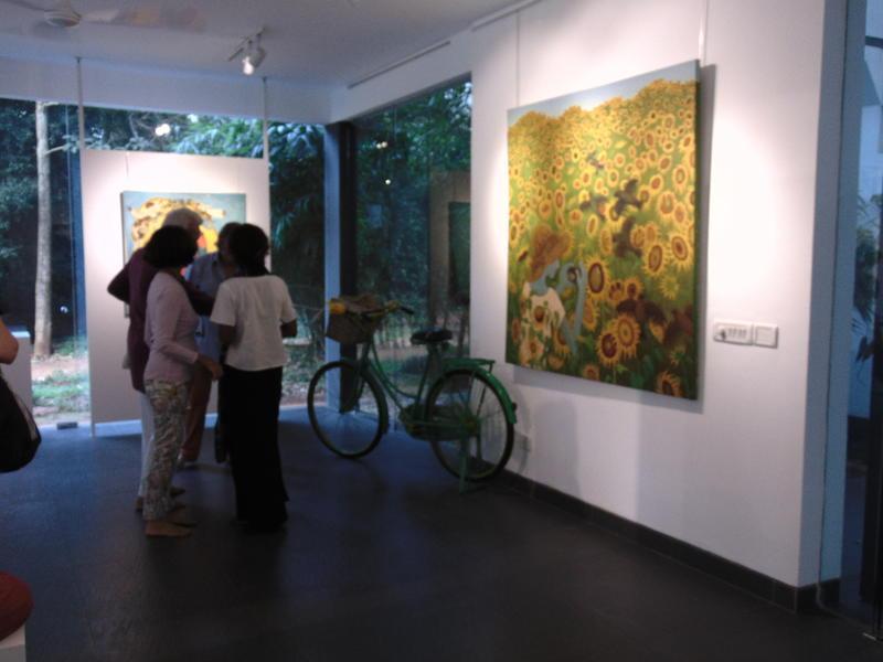 Photographer:Nola | Van Gogh work  is one of Kirti's inspiration