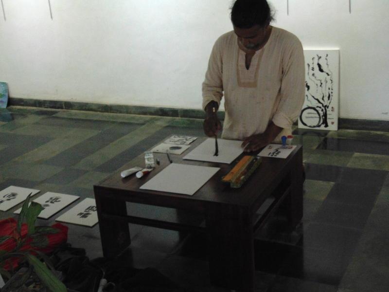 Photographer:Vita | Drupa painting caligraphy