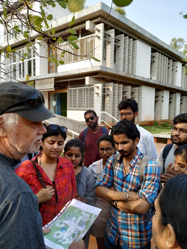 Photographer:Lalit   CEPT students with Helmut at SANTE