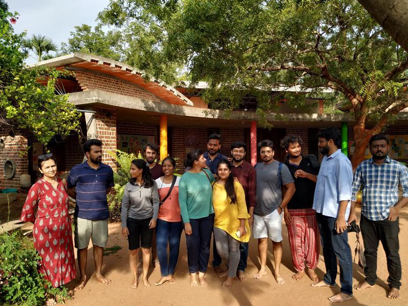 Photographer:Lalit   students of CEPT with Professor Purvi Bhatt at Kindergarden