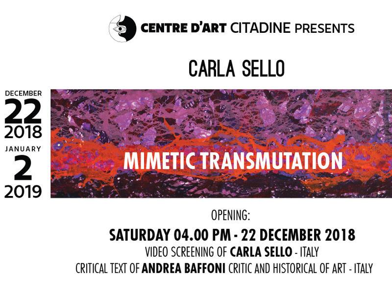 Photographer:Carla Sello | Mimetic Transmutationon Saturday 22nd at 4pm at Centre d'Art