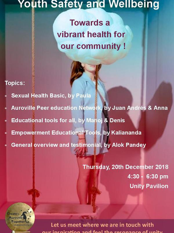 Photographer:Vita | Youth Safety and Wellbeing on Thursday 20th 4pm at Unity Pavilion