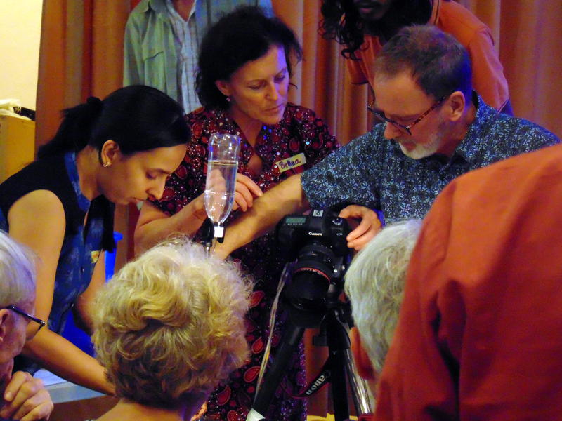 Photographer:June   Anushree  and Bettina are assisitng Herbert in demostrations