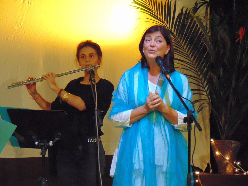 Photographer:maryliz   Shakti trills with Jade on flute