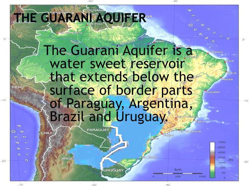 Photographer:web | Aquifero Guarani Lo azul en zonas de Argentina, Brasil y Paraguay.