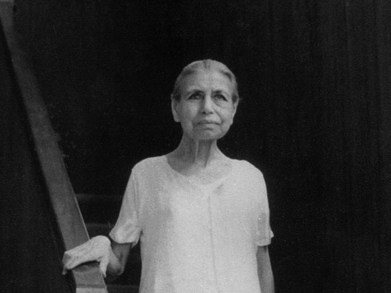 Photographer:Ashram Archives | Mother, 1960, Eighty Two Years Old - Continuing Her Inner Work, Having Made The Ashram And The School.